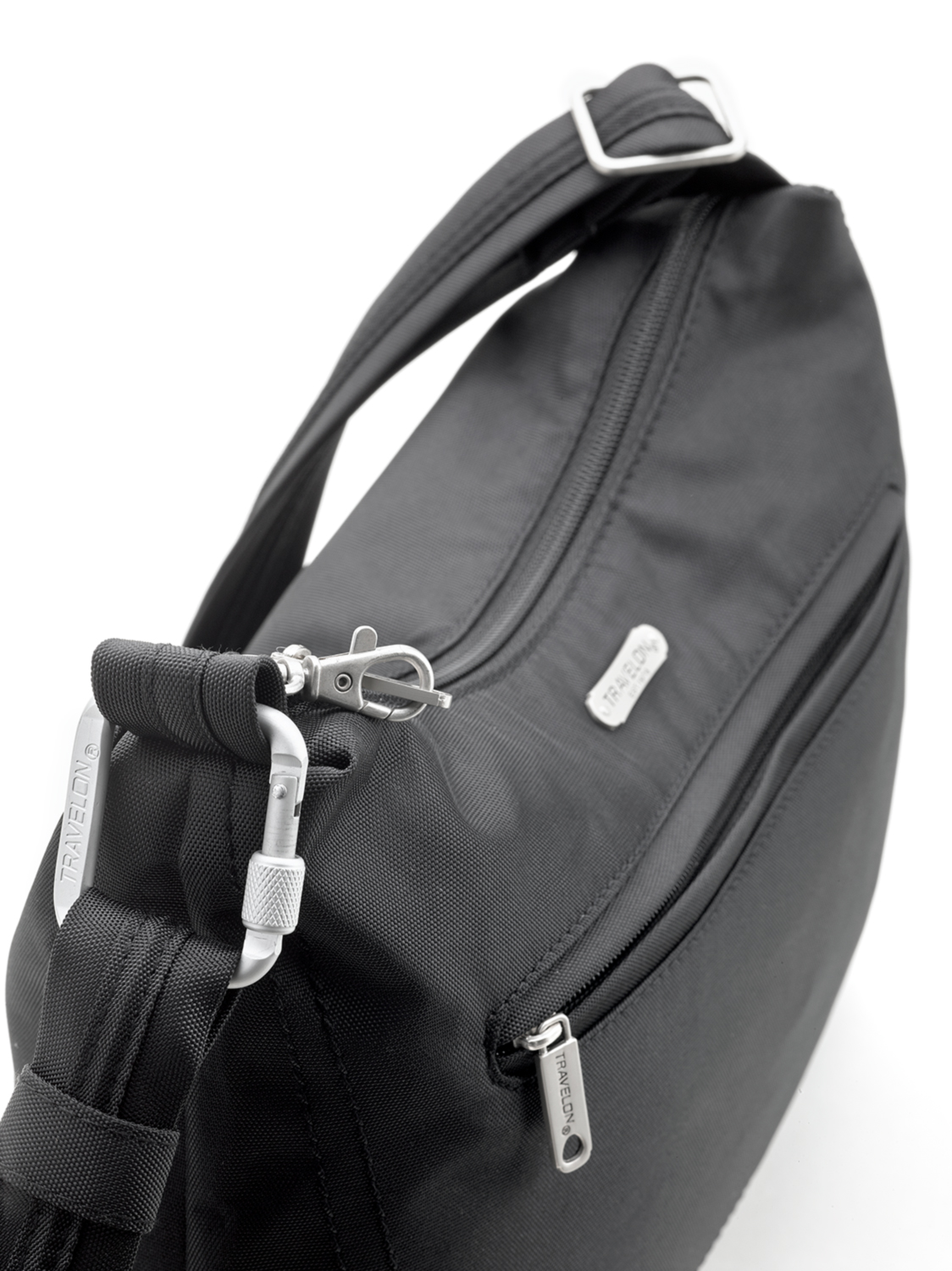 713c33debc9 Travelon – Anti-Theft Classic Hobo Shoulder Bag RFID Protected – Black