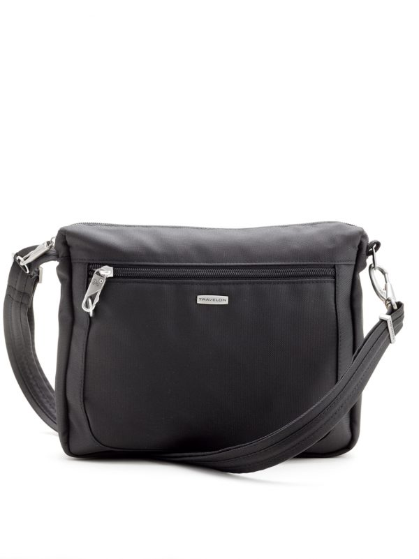 Travelon Classic Anti TheftRFID Safe Small Crossbody Bag TRA43115 Black