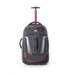 High Sierra – Composite V3 56cm Small RFID Wheeled Duffle With Backpack Straps – Black