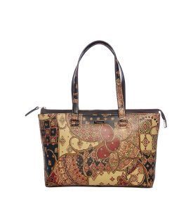 Tuscany By Scala Ashley Lge Two-Tone Tote SCI040