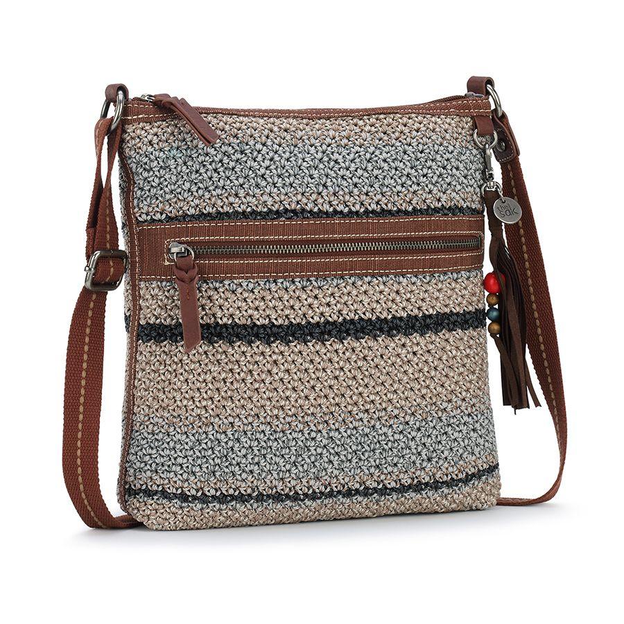 The Sak Lucia Crochet Crossbody Shoreline Stripe 107754 - Rainbowbags bb2cc639564a6