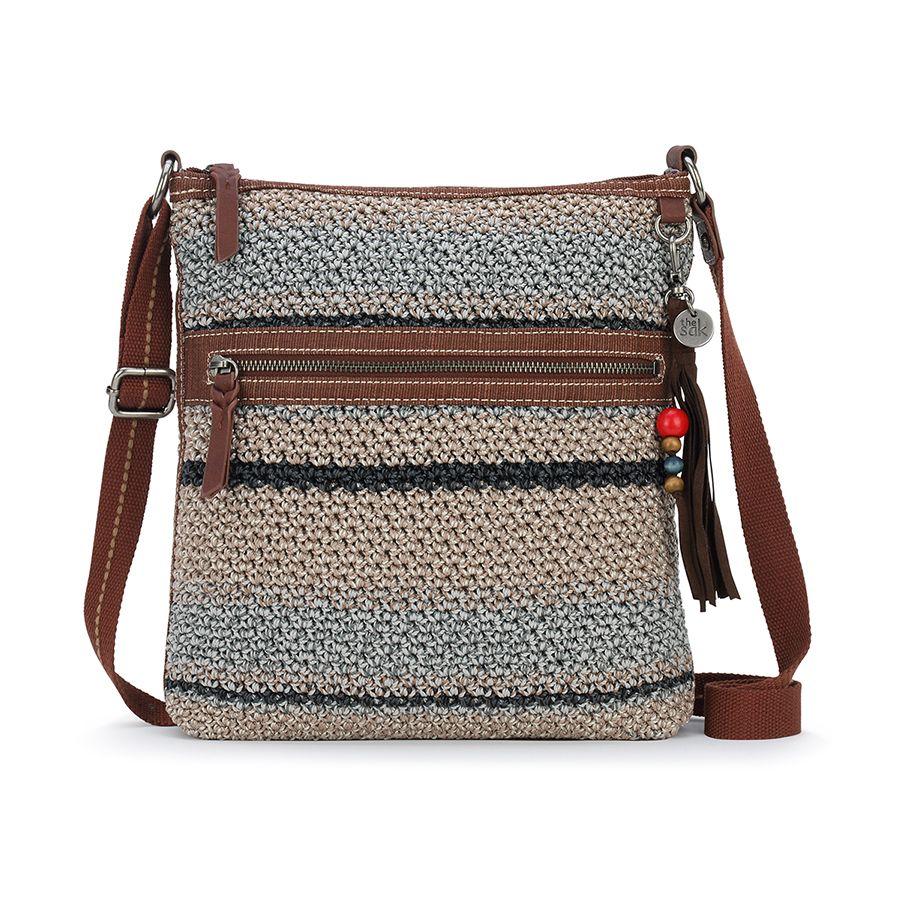 1ff34d1719 The Sak Lucia Crochet Crossbody Shoreline Stripe 107754 - Rainbowbags