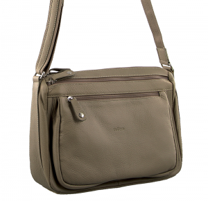 Milleni – Leather Cross Body Bag – Taupe NL9426