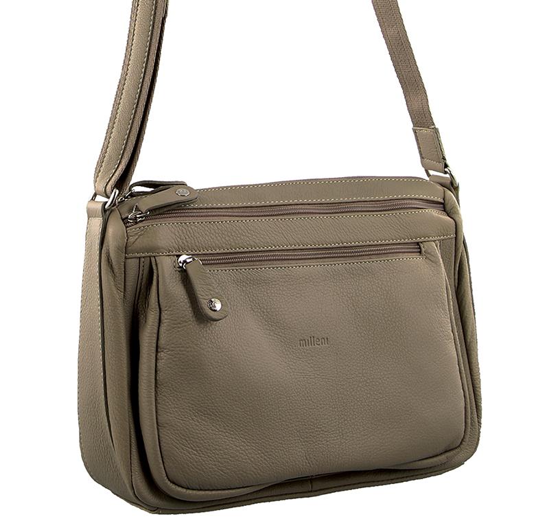 Milleni Leather Cross Body Bag
