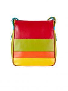 Oran Leather Backpack with Handbag SAF-6361 Aster Citrus Combo