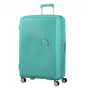 American Tourister – Curio 69cm Large Expandable Spinner – Mint Green