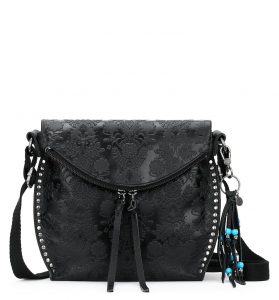 The Sak Silverlake Emboss Leather Crossbody Floral Emboss 106446- Black| Tobacco | Stone