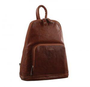 Milleni Ladies Nappa Leather Twin Zip Backpack NL10767