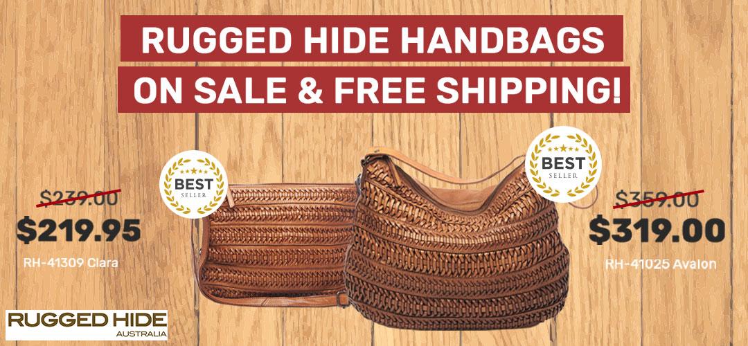 Rugged Hide handbag on sale